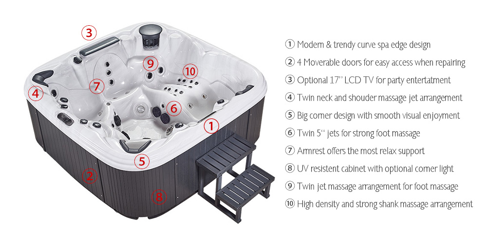 JOYSPA engineers premium hot tubs personalized for you. Energy efficient, beautiful, reliable. Contact us now to learn more.
